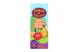 Сок яблочно-грушевый для детей от 4мес Ложка в ладошке т/п 200мл