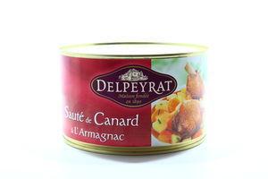 Рагу Delpeyrat Смажена качка з картоп в коньяці ж/б 1500г х6