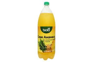 Напиток газированный Ананас Биола 2л