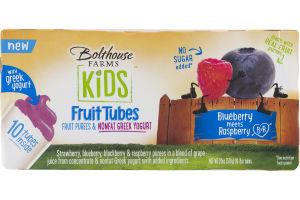 Bolthouse Farms Kids Fruit Tubes Fruit Purees & Nonfat Greek Yogurt Blueberry Raspberry - 10 CT