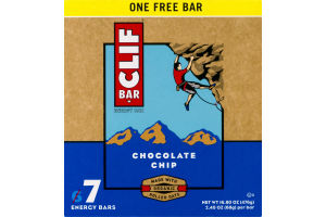 Clif Bar Energy Bar Chocolate Chip - 7 CT