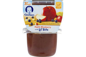 Gerber 3rd Foods Apple Blueberry With Lil' Bits Crawler - 2 PK