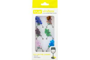 True Vinifera Glass Grape Wine Charms - 6 CT