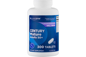 CareOne Century Mature Adults 50+ Dietary Supplement Tablets - 300 CT