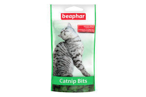 Лакомство для кошек и котят с кошачьей мятой Catnip Bits Beaphar 35г