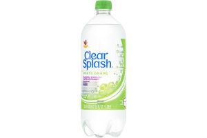 Ahold Clear Splash Flavored Sparkling Water Beverage White Grape