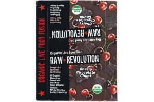 Raw Revolution Organic Live Food Bar Cherry Chocolate Chunk - 12 CT