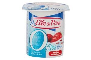 Десерт молочний 0.1% з полуницею Elle&Vire ст 125г