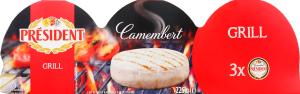 Сир 60% м'який Camembert Grill President к/у 3х75