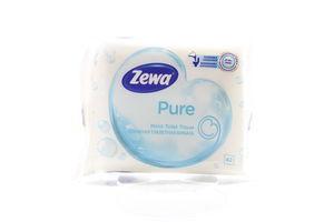 Бумага туалетная влажная Pure Zewa 42шт