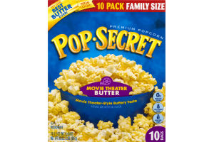 Pop-Secret Premium Microwave Popcorn Movie Theater Butter - 10 PK