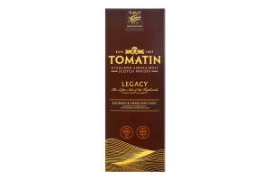 Віскі 0.7л 43% односолодовий шотландський Legacy Tomatin к/у