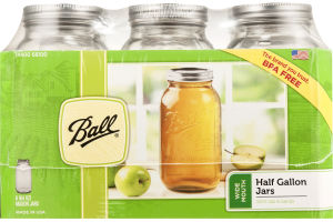 Ball Half Gallon Jars Wide Mouth - 6 CT