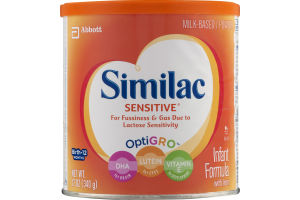Similac Sensitive Infant Formula With Iron Birth-12 Months