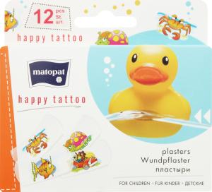 Пластир медичний Matopat Happy Tatto 12