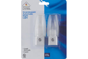 Smart Living Incandescent Automatic Night Light - 2 PK