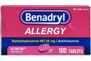 Benadryl Allergy Ultratab Tablets - 100 CT