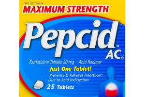 Pepcid AC Maximum Strength Acid Reducer - 25 CT