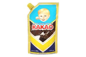 Згущ молоко з цукром та какао 7,5% 290г Первомайсь