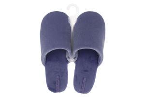 Тапочки домашние женские велюровые Twins Голубые 38/39