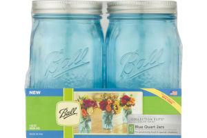 Ball Collection Elite Quart Jars Blue - 4 CT