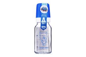 Бутылочка для кормления стеклянная 120мл с силиконовой соской №42/102 Canpol Babies 1шт