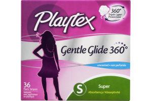 Playtex Playtex Plastic Tampons Gentle Glide 360 Super Unscented - 36 CT