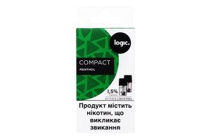Картридж 1.5% Menthol Compact Logic 2шт