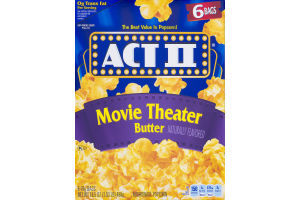 ACT II Microwave Popcorn Movie Theater Butter - 6 CT