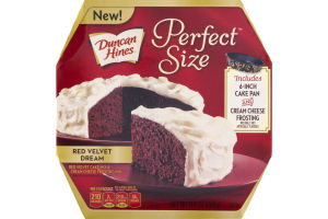 Duncan Hines Perfect Size Cake Mix Red Velvet Dream