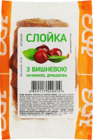 Слойка дріжджова з вишневою начинкою Ново-Баварський хлібозавод м/у 90г