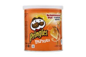 Чипсы картофельные со вкусом паприки Pringles к/у 40г