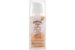 Hawaiian Tropic Face Silk Hydration SPF 30 Sunscreen Oil Free Lotion