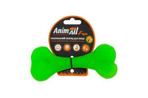 Снаряд тренировочный для собак 15см зеленый №88125 Кость Fun AnimAll 1шт