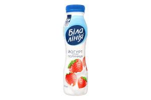 Йогурт 1.5% Клубника Біла лінія п/бут 250г