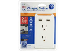 GE Charging Station 2 USB/2 AC Outlets