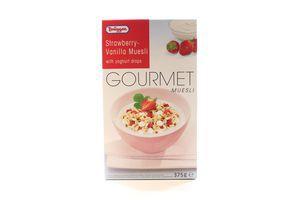 Мюсли с клубникой и йогуртом Gourmet Bruggen к/у 375г