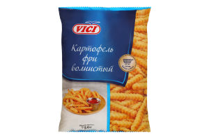 Картопля фрі хвиляста швидкозаморожена Vici м/у 750г