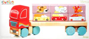 Игрушка Cubika Тягач с Кубиками деревянная
