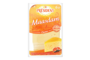 Сыр 45% твердый ломтями Maasdam President м/у 150г