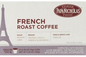 Papa Nicholas French Roast Coffee Single Serve Cups - 12 CT