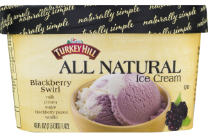 Turkey Hill All Natural Ice Cream Blackberry Swirl