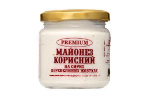 Майонез Корисний на сирих перепелиних жовтках 170г