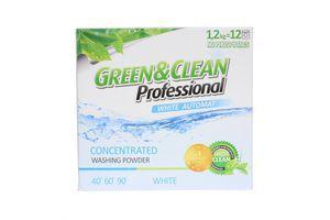Порошок стиральный для белой одежды automat Green&Clean Professional 1,2кг
