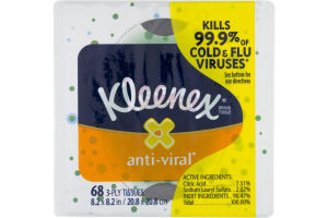 Kleenex 3-Ply Tissues Anti-Viral - 68 CT