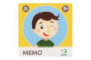 Игра настольная для детей от 3лет №300144 Эмоции Memo Dodo 24шт