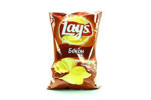 Чипсы картофельные со вкусом бекона Lays м/у 150г