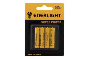 Батарейка AAA 1.5V R03 Super Power Enerlight 4шт