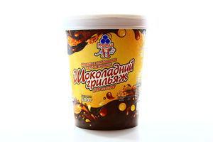 Морозиво Рудь Шоколадний грильяж ст 500г х6