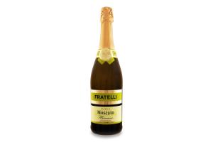 Напій винний 0.75л 6-6.9% білий напівсолодкий ігристий Moscato Bianco Fratelli пл
